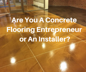 concrete flooring business
