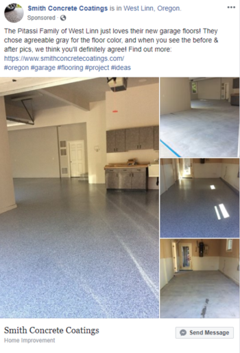 Facebook Ad For Concrete Flooring Contractors