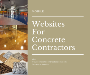 Mobile Websites For Concrete Contractors
